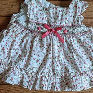Rare Editions Smocked Dress Vintage Rosebud